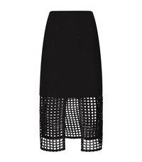 Finders Keepers Stand Still Mesh Midi Skirt Female Black
