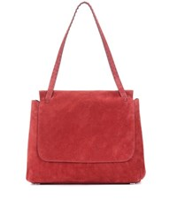 The Row Sidekick Suede Shoulder Bag Red