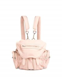 Alexander Wang Mini Marti Leather Backpack Pale Pink Light Pink
