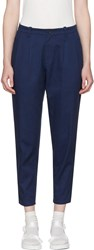 Blue Blue Japan Navy Tucked Trousers