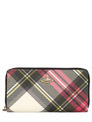 Vivienne Westwood Derby Plaid Faux Leather Zip Wallet