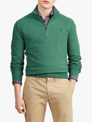 Ralph Lauren Polo Half Zip Jumper Stuart Green Heather