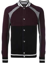 Givenchy Colour Block Knitted Jacket Red