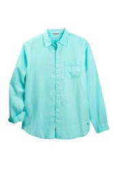 Tommy Bahama Sea Glass Breezer Long Sleeve Sport Shirt Big And Tall Blue