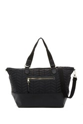 Madden Girl Cori Quilted Weekend Bag Black