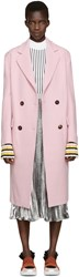 Emilio Pucci Pink Wool Double Breasted Coat