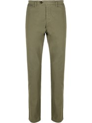 Eleventy Straight Leg Chino Trousers Green