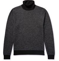 Berluti Textured Knit Wool Rollneck Sweater Black