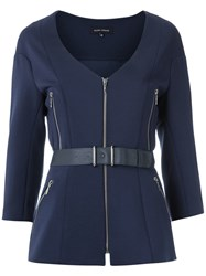 Gloria Coelho Panelled Jacket Blue