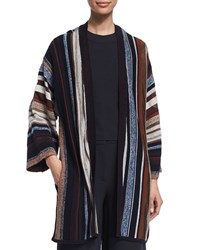Maiyet Long Sleeve Striped Kimono Sweater Multi Colors