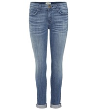 Current Elliott The Rolled Skinny Mid Rise Skinny Jeans Blue