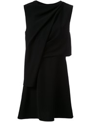 Mcq By Alexander Mcqueen Draped Front Dress Black