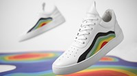 Filling Pieces End. X Low Top Cleo 'Heat Map' White