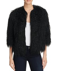 Theory Faux Fur Open Front Jacket Black