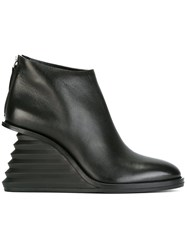 Premiata Wedge Ankle Boots Black