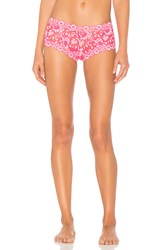 Hanky Panky Cross Dyed Signature Lace Boyshort Pink