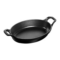 Staub Stackable Oval Baking Dish Black