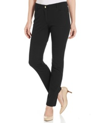 Charter Club Slim Leg Twill Pants Black