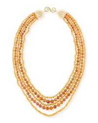 Splendid Company Multi Strand Ethiopian Opal And Mandarin Garnet Necklace