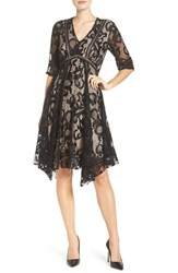 Taylor Dresses Women's Asymmetrical Lace Dress