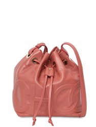 Jimmy Choo Small Juno Leather Shoulder Bag Pink