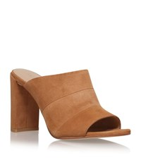 Stuart Weitzman Sequel Suede Mules Female Brown