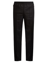 Givenchy Zip Pocket Slim Leg Wool Track Pants Black
