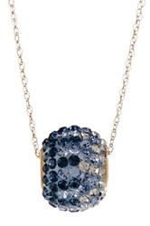 Candela 14K Yellow Gold Blue Ombre Crystal Spinner Pendant Necklace Multi
