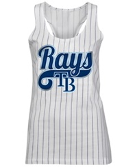 5Th And Ocean Women's Tampa Bay Rays Opening Night Tank Top White