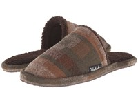 Woolrich Chatham Slide Camo Wool Men's Slippers Brown