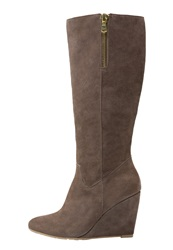 Pier One High Heeled Boots Taupe