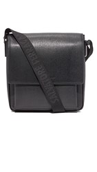 Salvatore Ferragamo Revival Leather Messenger Bag Black