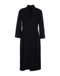 Antonio Fusco Knee Length Dresses Black