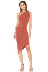 Becandbridge Titania Asymmetrical Midi Dress Red