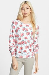Wildfox Couture Women's Rose Print Baggy Beach Jumper Pullover