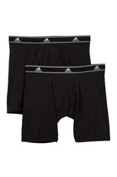 Adidas Athletic Stretch Relaxed Boxer Brief Pack Of 2 Black