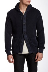Weatherproof Textured Knit Cardigan Blue