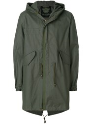 Mr And Mrs Italy Classic Midi Parka Coat Green