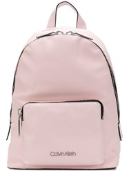 Calvin Klein Branded Backpack Pink And Purple
