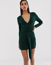 Bec And Bridge Valentine Long Sleeve Mini Dress Green