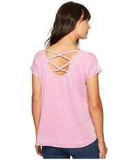 Allen Allen Double Cross Back Tee Posey Women's T Shirt Pink