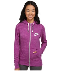Nike Gym Vintage Full Zip Hoodie Bold Berry Sail Women's Sweatshirt Purple