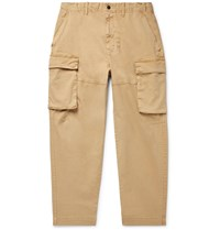 Alex Mill Cotton Blend Twill Cargo Trousers Brown