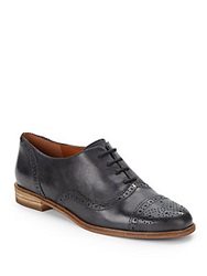 Enzo Angiolini Cristin Leather Oxford Shoes Black