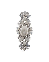 Marchesa Bohemian Dream Swarovski Crystals Ring Silver
