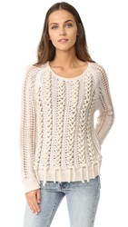 M.Patmos Lea Laced Pullover Ivory