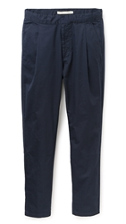 Shades Of Grey Easy Pleated Dress Pants Navy