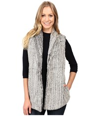 Dylan By True Grit Faded Fleece Snap Front Vest Faded Black Women's Vest Gray