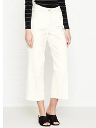 Jigsaw Hoxton Crop Flare Jeans Off White