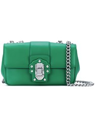 Dolce And Gabbana Lucia Oblong Shoulder Bag Women Leather One Size Green